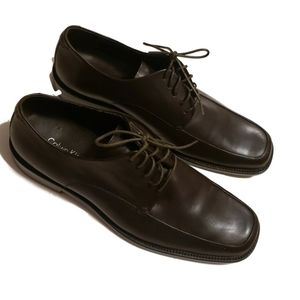Calvin Klein Hamilton II Brown Leather Oxfords
